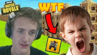 "12 YEAR OLD SAYS HE'S ""NINJA'S BROTHER"" ON FORTNITE! TROLLING SQUEAKERS *KID RAGE QUITS* (Fortnite)"