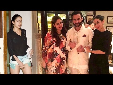 Saif Ali Khan's HOT Daughter Sara Leaving Kareena Kapoor's House Party