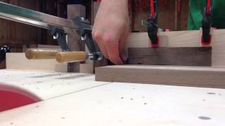Table Saw Crosscut Sled In Action