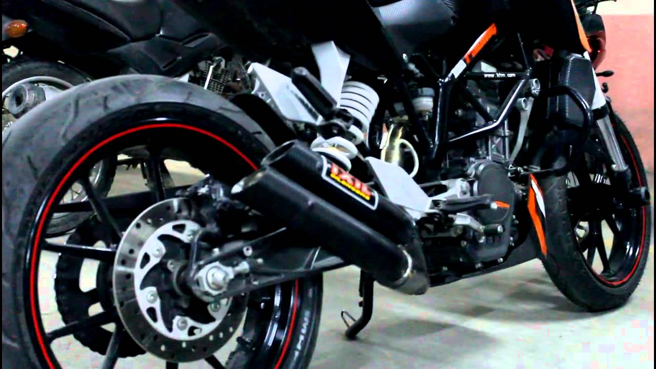 ktm duke 200 - ixil exhaust - aftermarket exhaust - 2013 - youtube
