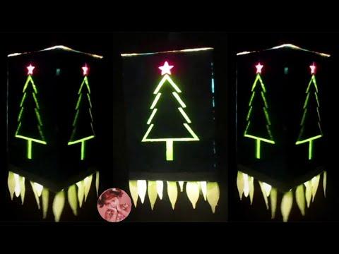 Easy and Simple Christmas Tree Akash Kandil | Christmas Decor | Decoration Ideas for Christmas