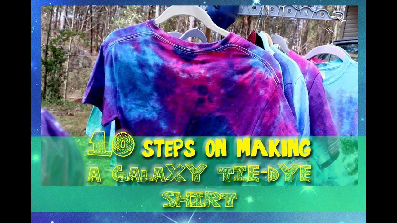 10 STEPS on making a GALAXY Tie-Dye Shirt ...