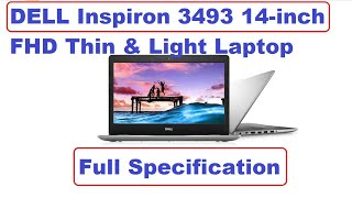 DELL Inspiron 3493 14-inch FHD Thin & Light Laptop