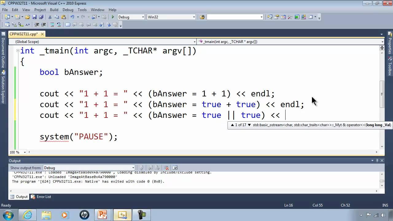C++ Win32 Console Tutorial 11 - Proving 1 + 1 = 1 - Computer Math Trick