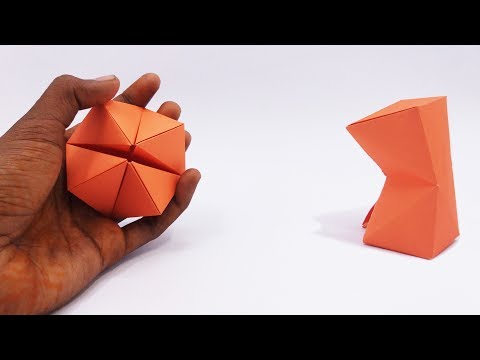 Make Easy Origami Paper Magic Transforming Flexahedron - Magic Tricks For Kids And Your Friends