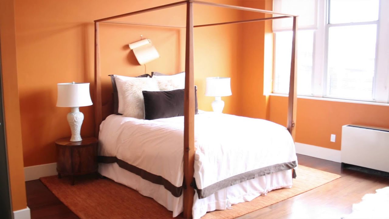 help with decorating a room with warm orange walls : design