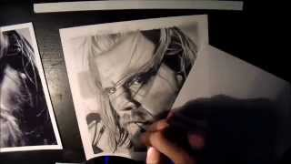 Speed Drawing of Ryan Hurst as OPIE (Sons of Anarchy)