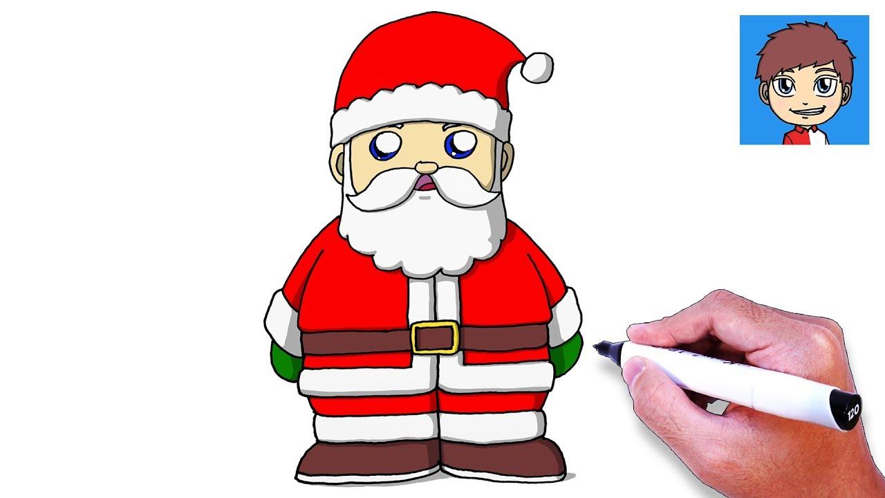 Cara Menggambar Sinterklas Dengan Mudah – Gambar Natal