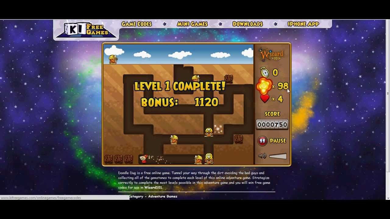 Ki free games doodle dug prizes for mega