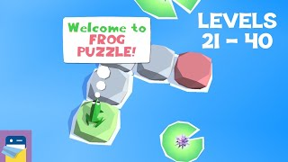 Frog Puzzle: Levels 21 - 40 Walkthrough Guide & Solutions (by Guillaume Danel)