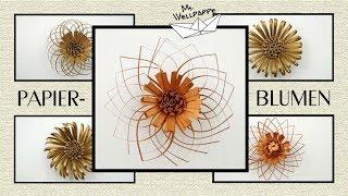 DIY Blumen basteln mit Papier - schöne Dekoblumen einfach gebastelt