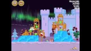 Angry Birds Seasons Winter Wonderham 1-4 Walkthrough 3-Star