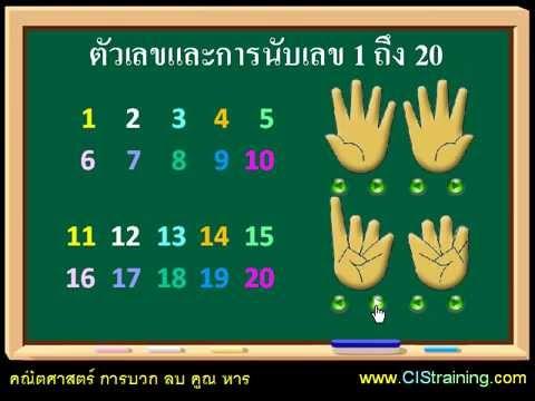 สอนลูกให้เก่งเลข 03 สอนการบวกเลข 1 หลัก [CIStraining.com]
