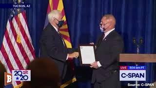 Heckler Interrupts Mike Pence in Arizona: 'Black Lives Matter,' 'F*ck Trump'