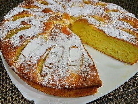 Нежная Шарлотка с Творогом и Яблоками в Духовке/ Рецепт Сочного Яблочного Пирога с Творогом
