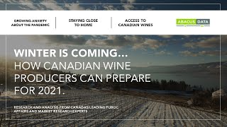 Wine Growers Canada - COVID and Wine Webinar with David Coletto, Abacus Data