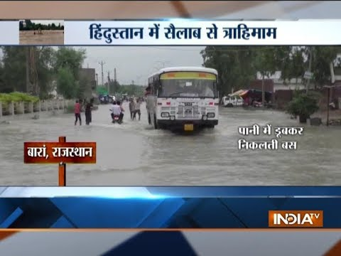 Heavy rains, floods throw life out of gear in MP, Rajasthan