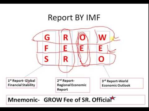 Funny way to Remember the report by IMF,World Bank & WEF