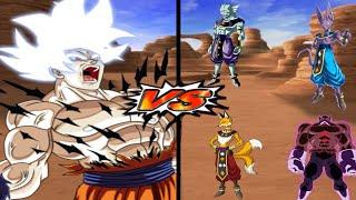 [TAS] DBZ BT3 SHAF: Goku MUI Vs. Gods of Destruction (Super Enhanced Red Potara) (Request Match)