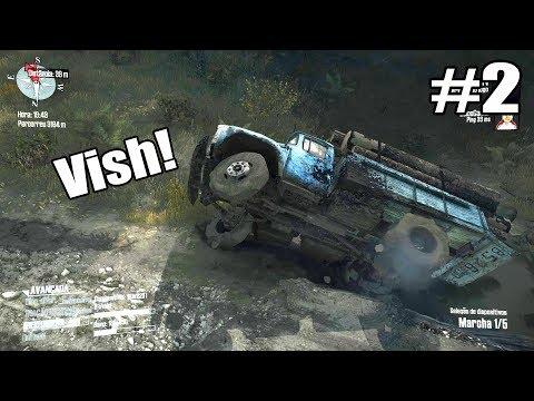 Spintires MudRunner Online #2 - CAPOTEI O CAMINHÃO NA PONTE! pt.1 (G27) ‹ Getaway Driver ›