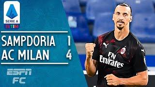 Zlatan Ibrahimovic makes history in AC Milan's 4-1 win vs. Sampdoria | Serie A Highlights