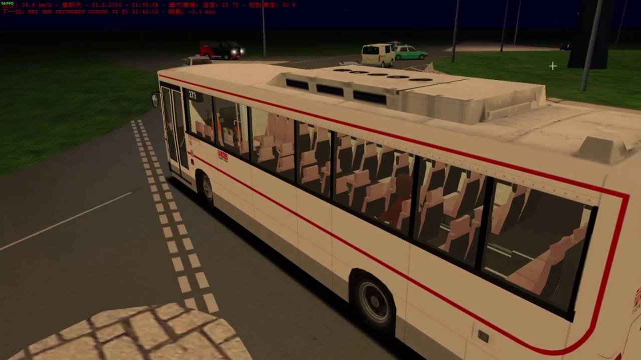OMSI 2 Dennis Dart AA3 10 3M Bus driving test in 273 city