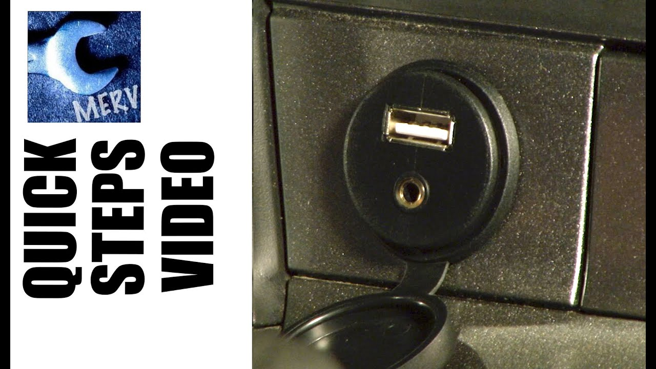 Auxiliary Jack For Car: AUX JACK USB CAR INSTALL -- Quick Steps