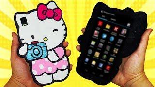 ♥ Tutorial: Funda Móvil de Hello Kitty  ♥
