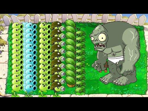 Plants Vs Zombies Battlez All Pea PVZ,Cattail Vs Gargantuar Zombies