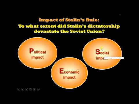 Chapter 2 - Impact of Stalin's Rule #1/3 (Intro + Economic Impact)