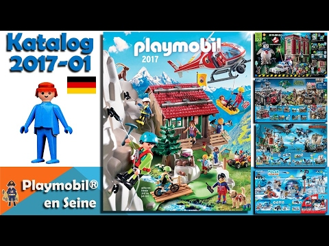 playmobil catalogue 2017 allemand janvier juillet 2017 youtube. Black Bedroom Furniture Sets. Home Design Ideas