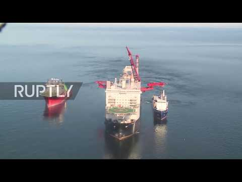 Russia: See Nord Stream 2 pipe-laying in Baltic waters