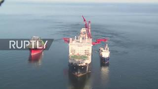 Subscribe to our channel! rupt.ly/subscribepipe-laying vessel solitaire and its crew were on action laying the nord stream 2 gas pipeline wednesday in the...