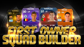 Fifa 15 Rare First Owner Squad Builder  RB Ronaldo Motm Messi Ultimate Team