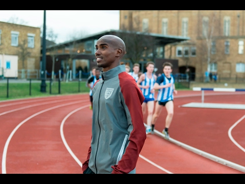 Sir Mo Farah talks about his time at St Mary