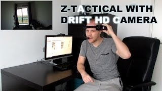 How to film Airsoft: Drift HD connected to Z-Tactical Bowman Evo III