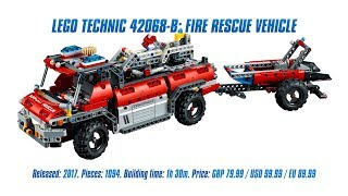 LEGO Technic 42068 B-model: Fire Rescue Vehicle In-depth Review & Speed Build [4K]