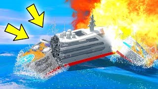 CAN 100+ EXPLOSIONS BLOW UP THE YACHT IN GTA 5?