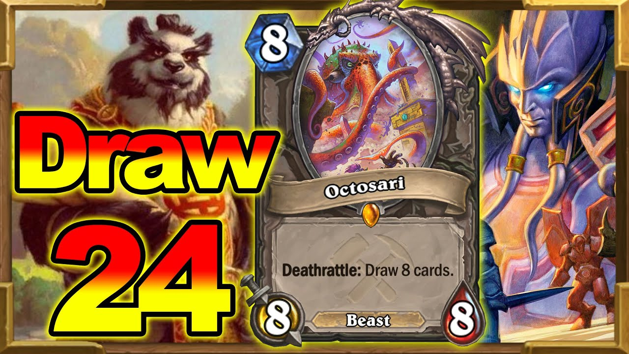 Making My Opponents Draw 24 Cards in One Turn! Crazy Octosari Combo With Mindgames | Hearthstone