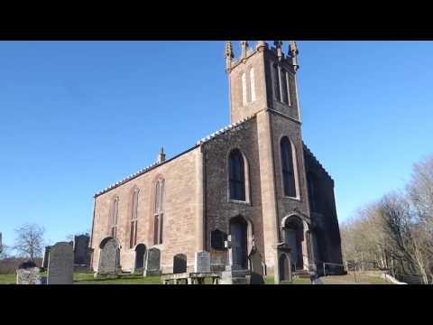 Winter Road Trip Drive To Parish Church And Cemetery In Clunie Perthshire Scotland