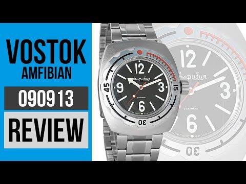 Vostok Amphibian 090913 Russian Military Wrist Watch Black Dial Review