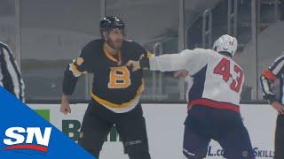 Bruins' Jarred Tinordi Takes On <b>Tom Wilson</b> In A Big Scrap