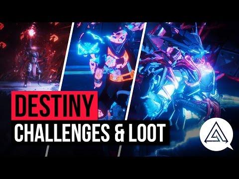 Destiny | Wrath of the Machine All Challenge Modes & Raid Loot - Vosik & Aksis