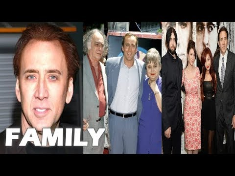 Nicolas Cage Family Pictures    Father, Mother, Brothers, Ex-Spouses, Spouse, Son !!!