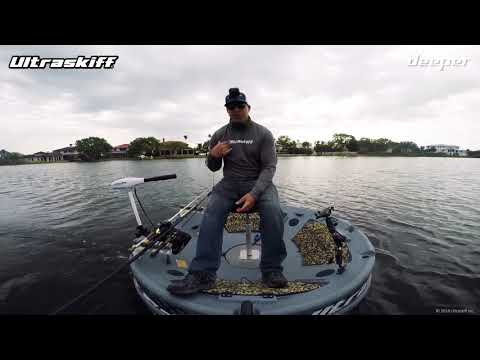 Deeper andy 39 s fishing tests deeper smart sonar in a kayak for Ibobber ice fishing