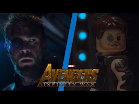 Avengers: Infinity War Official Trailer In LEGO Side By Side