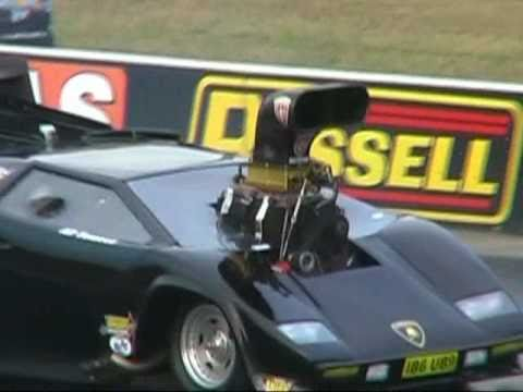 Lamborghini Drag Car Ib6ub9 Hits The Wall At Full T