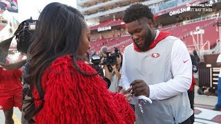49ers lineman D.J. Jones proposes to girlfriend Kayla Fannin