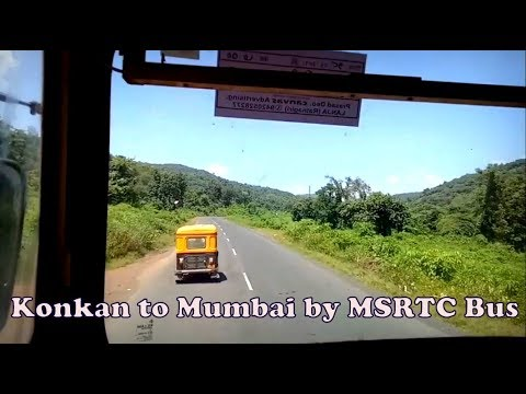 Konkan to Mumbai by MSRTC Bus ST | Full Journey through NH66