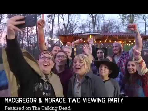 MacGregor and Morace's TWD Viewing Parties featured on The Talking Dead